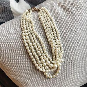 J. Crew multi strand pearl necklace